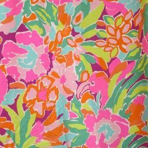 Lilly Pulitzer Garnet Hill Shower Curtain Flamingo